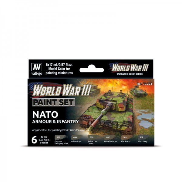 NATO Armour & Infantry | Vallejo WW III Model Color Farben Set