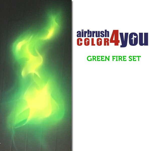 GREEN Flames | AirbrushColor4you
