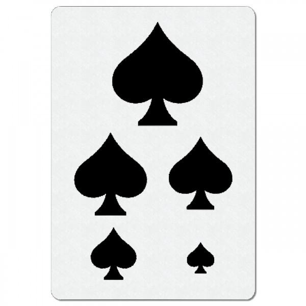 Pik Spielkarte | Airbrush Schablone A4