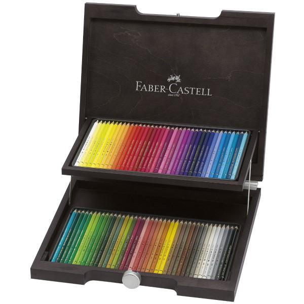 Polychromos im Holzkoffer   Künstlerfarbstifte Faber Castell