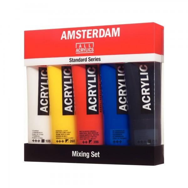 AcrylfarbenSet Amsterdam | Mix 5x 120ml
