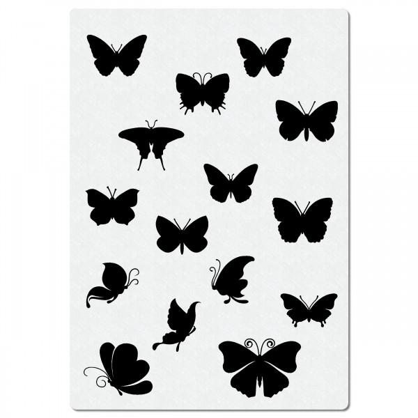 Schmetterling Schwarm | Airbrush Schablone ca. A4