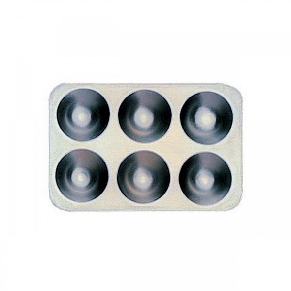 Mischpalette eckig, 6 Näpfe | Aluminium 13 cm x 8,0 cm