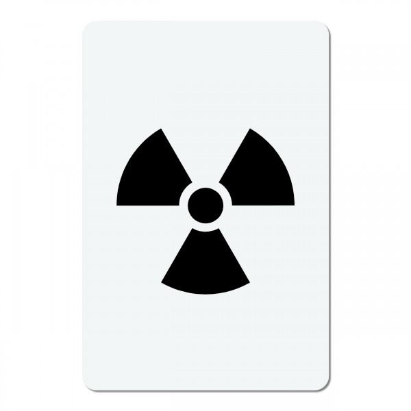 Atom Nuclear Symbol | mini #017 Airbrush Schablone A6