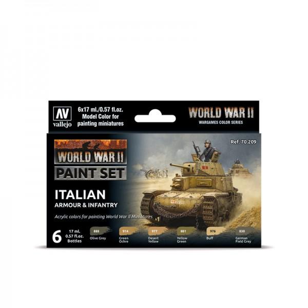 Italien Armour & Infantry | Vallejo WW II Model Color Farben Set