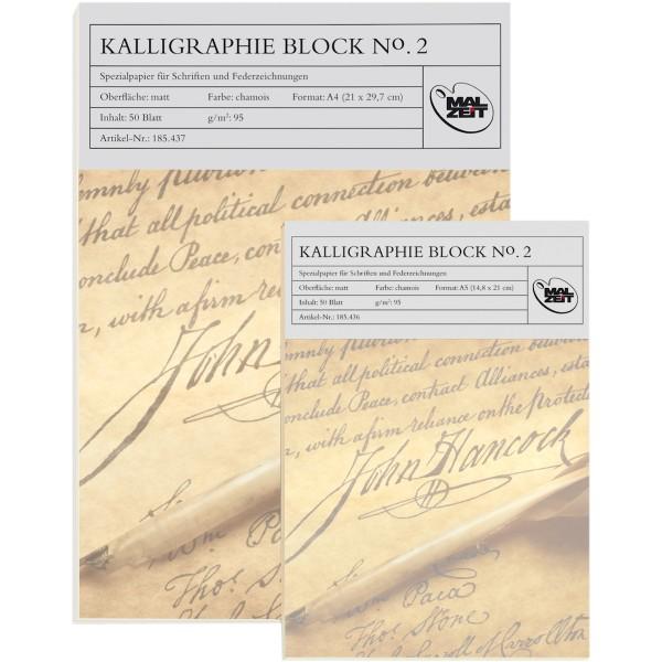 Kalligraphie Block No. 2 | Malzeit 95g/m²