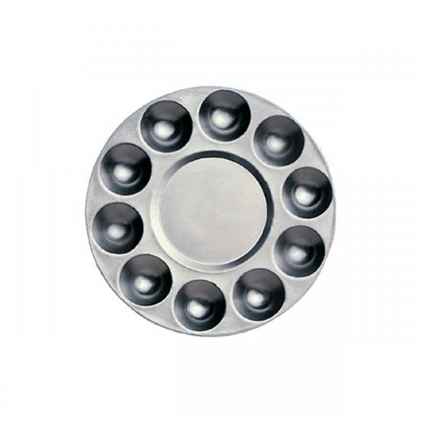 Mischpalette rund, 10 Näpfe | Aluminium d=17cm