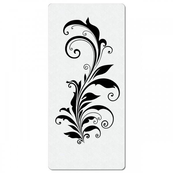 Swirl Ranke #02 | Blumen Airbrush Schablone 20 x 9cm