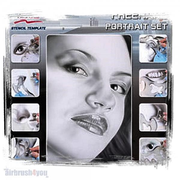 H & S Stencil | Freehand Portrait Set-Image