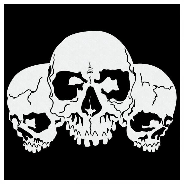 Piles of Skulls #016 | Airbrush Schablone Totenköpfe