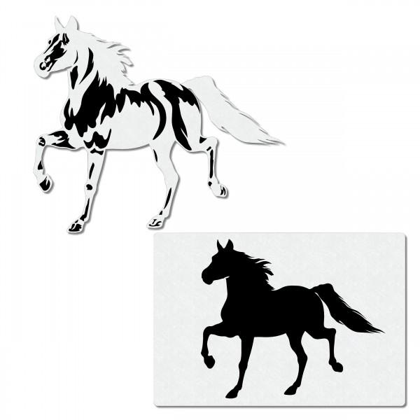 Pferd, trabend | Airbrush Schablone ca. A4