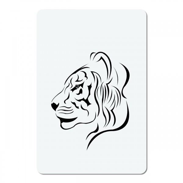Tiger Kopf | mini #15 Airbrush Schablone A6