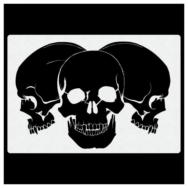 Piles of Skulls #105 | Totenköpfe Airbrush Schablone | ca. A4