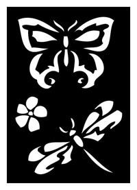 Tattoo Schablone | selbstklebend | Schmetterling-Image