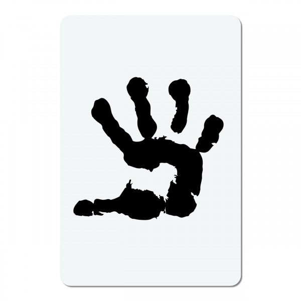 Hand | mini #06 Airbrush Schablone A6