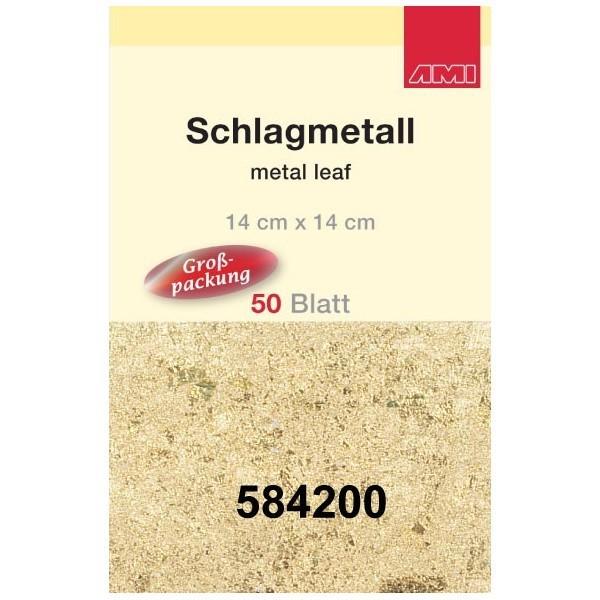 Gold 2,5 Schlagmetall | 50 Blatt | 14 x14 cm-Image