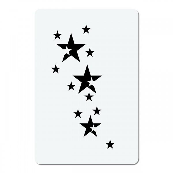 Sterne | #31 Mini Airbrush Schablone A6