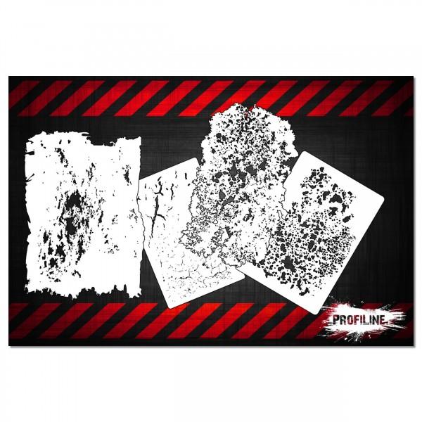 Grunge FX Set 4tlg. | Airbrush Schablonen SET