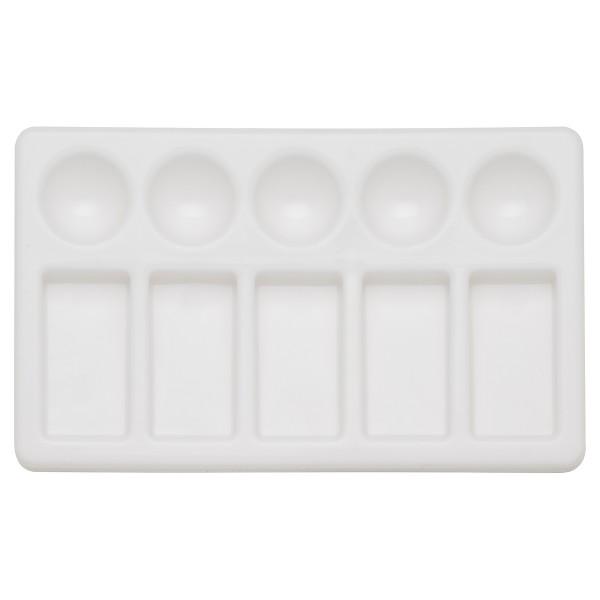 Mischpalette eckig, 10 Näpfe | Kunststoff 19,5 cm x 11,5 cm