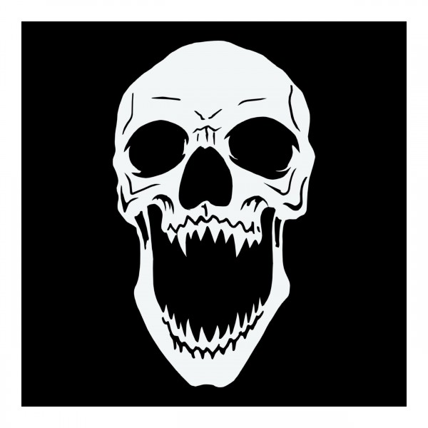 Skull #29   Airbrush Schablone Totenkopf ca. A4