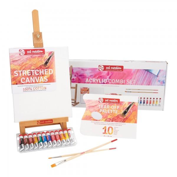 Acrylfarben Kombi-Set | 12x 12ml Tuben & Zubehör