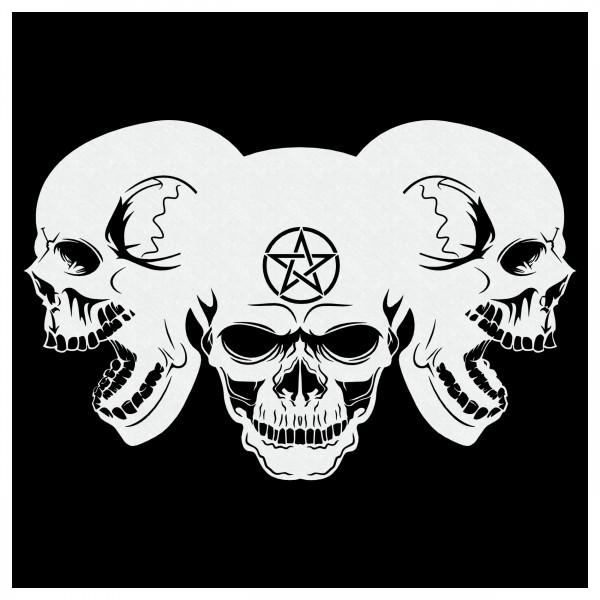 Piles of Skulls Pentagramm | Totenköpfe Airbrush Schablone | ca. A4