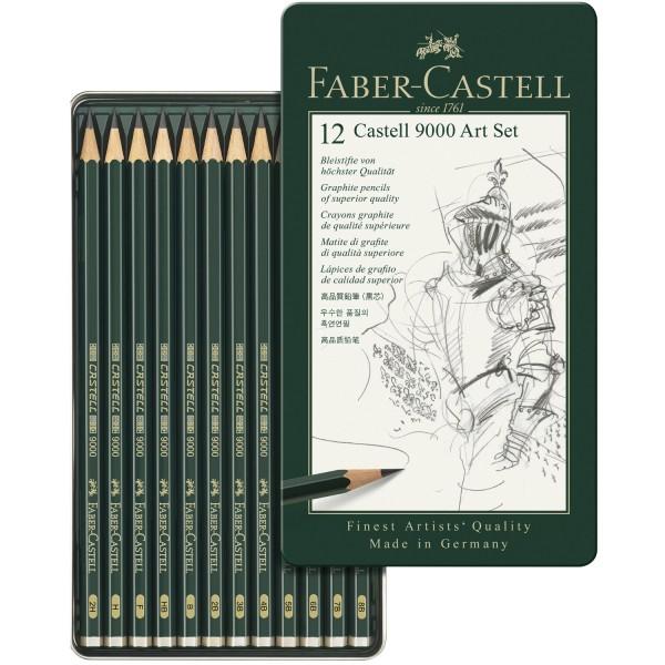 12er Bleistift Set   Faber Castell Bleistift 9000