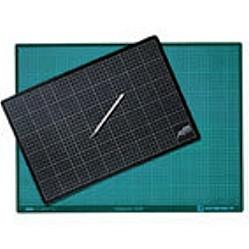 Schneidunterlage A4   22 x 30cm   schwarz/grün-Image
