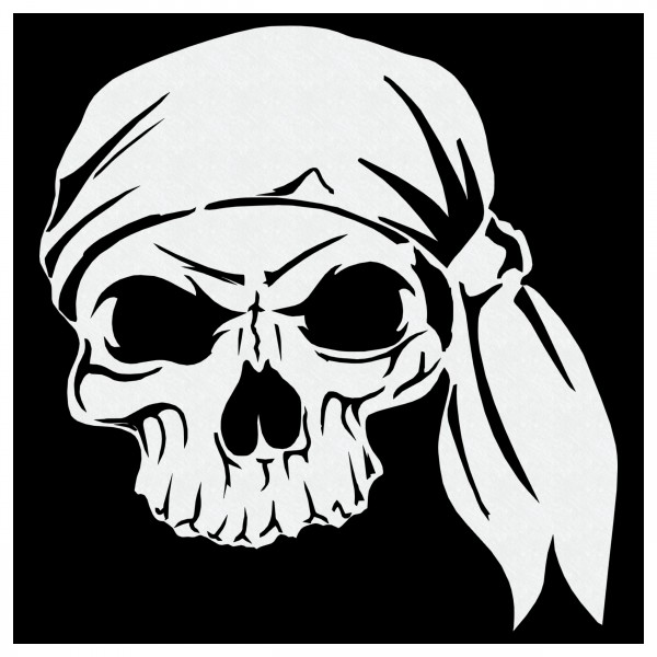 Pirat Skull | Totenkopf Airbrush Schablone ca.19 x 20cm