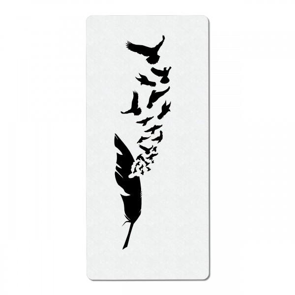 Feder und Vögel #2   Airbrush Schablone 19 x 9cm