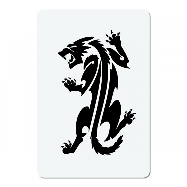 Wolf | mini #02 Airbrush Schablone A6
