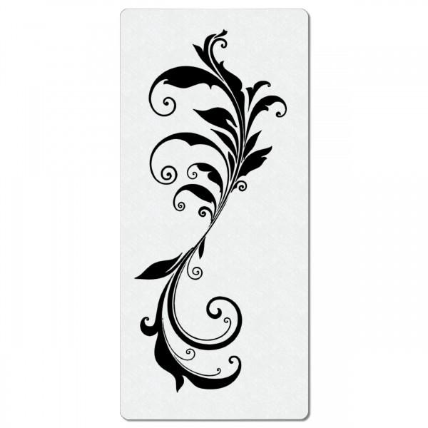Swirl Ranke #08   Blumen Airbrush Schablone 19 x 9cm