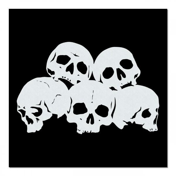 Piles of Skulls #010   Totenköpfe Airbrush Schablone   A4