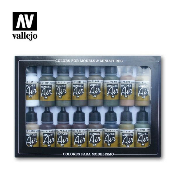 Vallejo Model Air | 16er Set | German Allied WWII