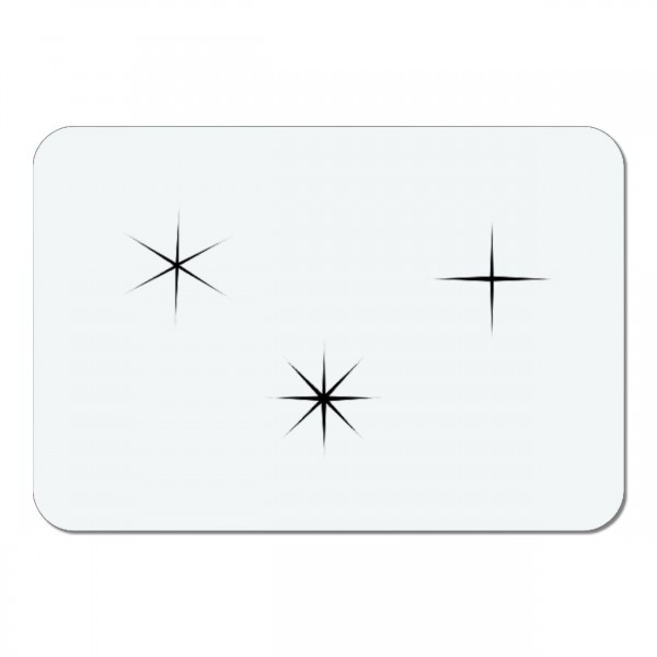 Sterne #061 Sparkle Stars | Mini Airbrush Schablone ca. 5 x 3,5cm
