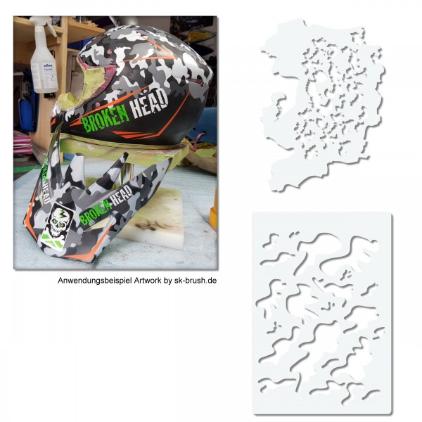 Camouflage Set | 2tlg. FX Airbrush Schablonen Set | 2tlg.