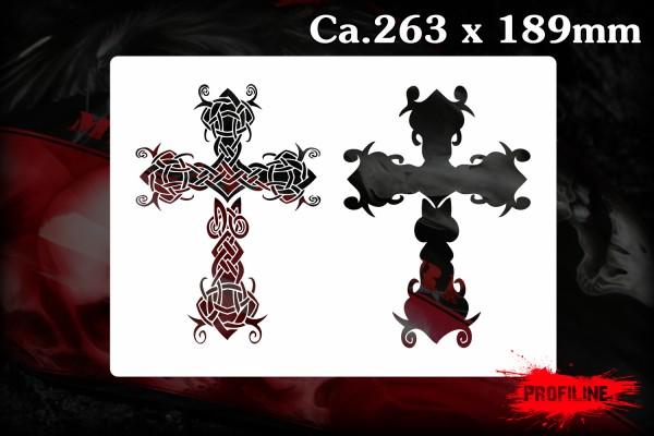 Keltisches Kreuz Schablone - Celtic Cross Stencil