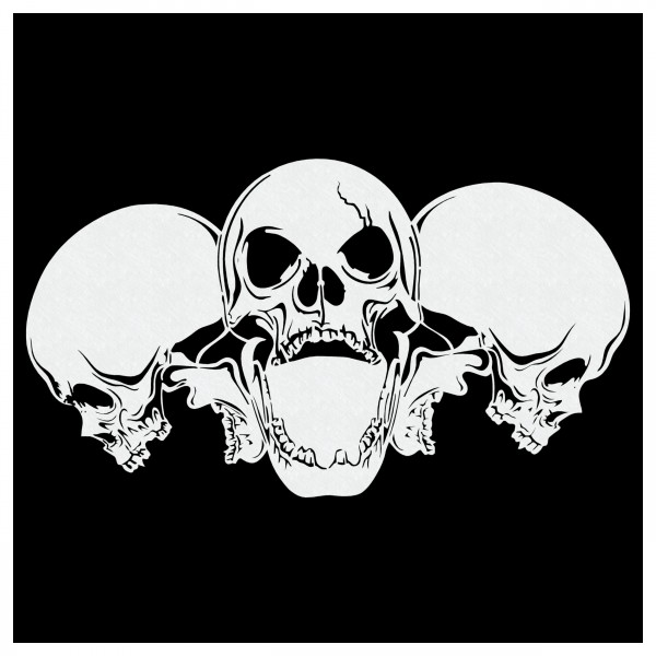 Piles of Skulls #072 | Totenköpfe Airbrush Schablone | ca. 26 cm x 15 cm