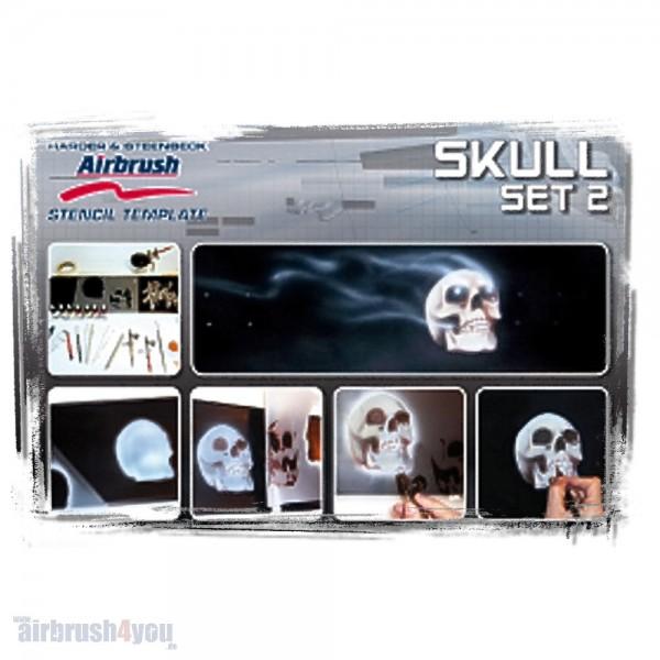 H & S Stencil | Skull 2 Set-Image