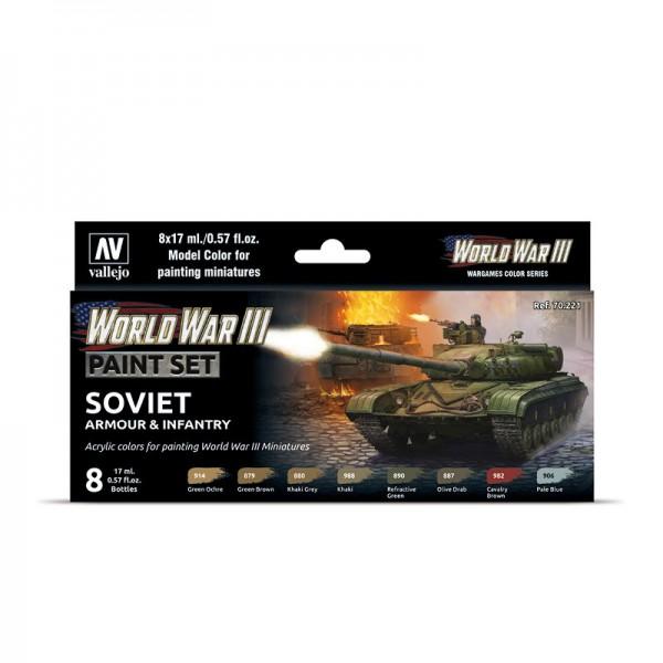 Soviet Armour & Infantry | Vallejo WW III Model Color Farben Set