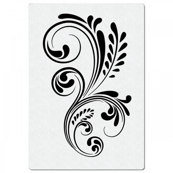 Swirl Ranke #06 | Blumen Airbrush Schablone A5