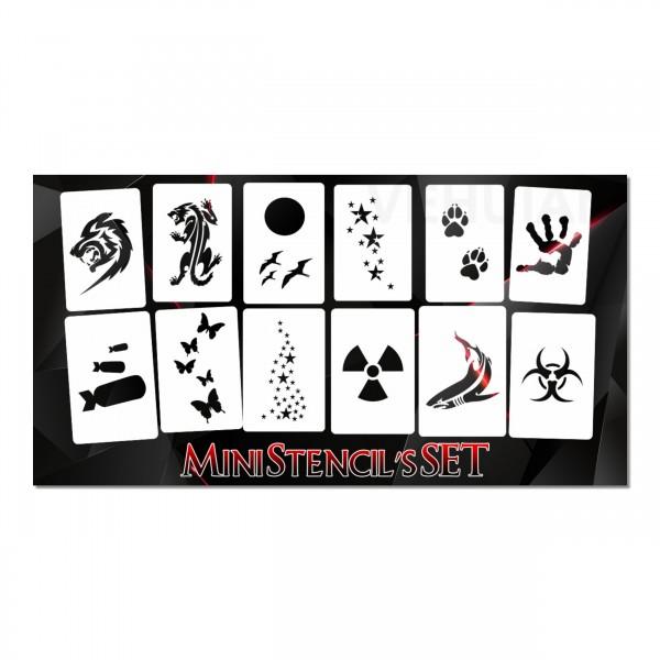 mini SET | 12tlg. Airbrush Schablonen Set