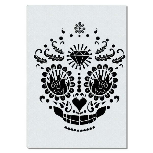 Sugar Skull | Totenkopf Airbrush Schablone